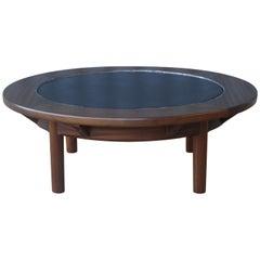 Mahogany Coffee Table with Slate Top