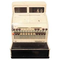 1950s Classic Cream Colored Mid-Century Modern Cash Register