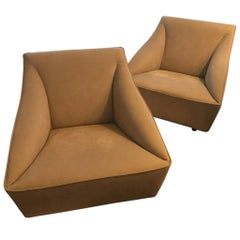 New Atelier Gary Lee Chai Ming Studio Doda Leather Club Chairs, a Pair