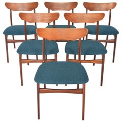 Set of Six Schionning & Elgaard Teak Dining Chairs