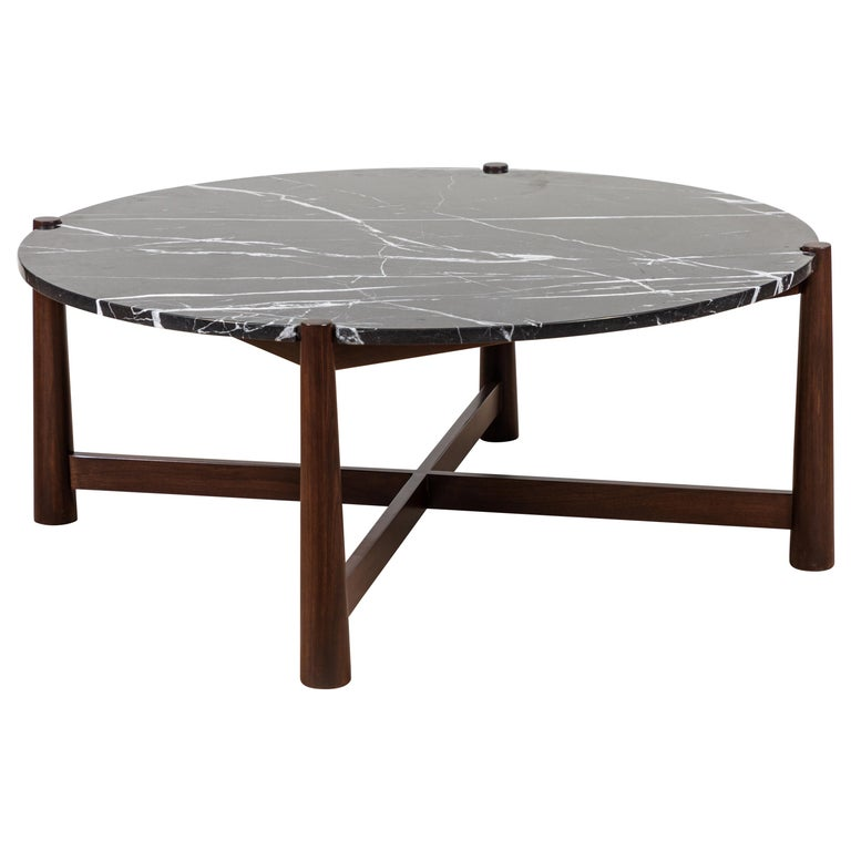 Bronson Coffee Table Round by Lawson-Fenning For Sale
