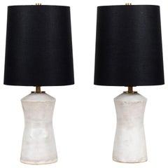 Pair of Ceramic Table Lamps by Danny Kaplan