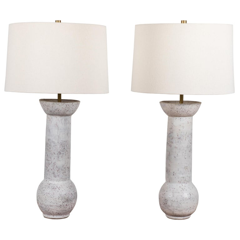 Pair of Ceramic Lamps by Danny Kaplan