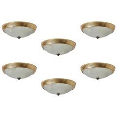 Six Italian Ceiling Lights