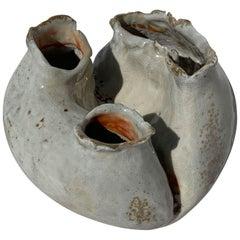 Organic Modern Wood-Fired Porcelain Heart Vase