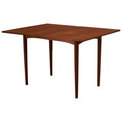 Danish Teak Flip Top Dining Table by Borge Mogensen