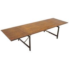 Hans Wegner Rosewood Drop Leaf Dining Table, signed