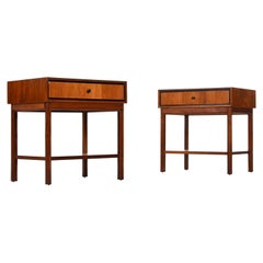 Jack Cartwright for Founders Walnut Nightstand End Tables