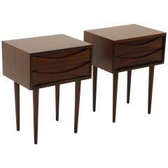 Pair of Arne Vodder Rosewood Nightstands / Night Stands Danish Modern Excellent