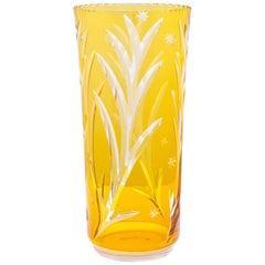 Documented Josef Hoffmann Wiener Werkstätte Glass Vase, circa 1923