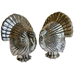 Silver Plate Turkey Salt and Pepper