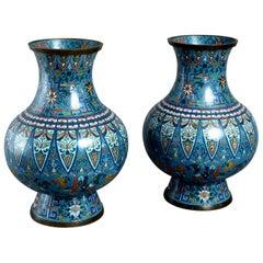 19th Century Pair of Cloisonné Vases