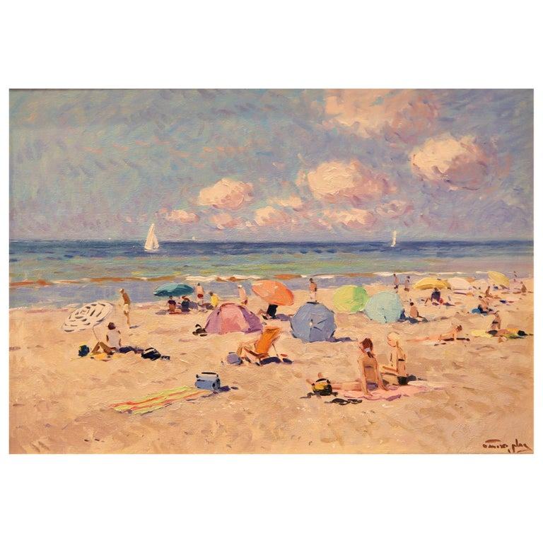 Niek van der Plas, Perfect Beach Day, Oil on Canvas