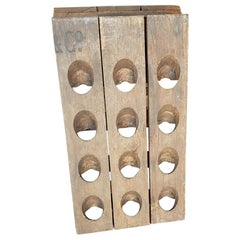 Vintage French Wine Rack 24 Bottles It's Made from a Champagne Rack