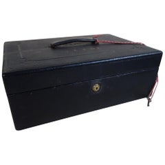 Leather Writing Case with Key