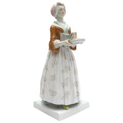 Big Meissen Porcelain Figure ''The Chocolate Girl""