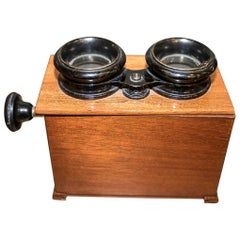 Edwardian Mahogany English Stereoscope or Old Photo Viewer