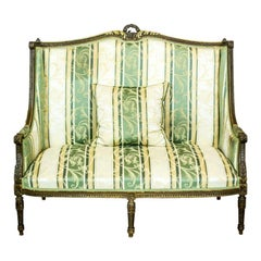 Small, Upholstered Sofa from the Late 19th Century