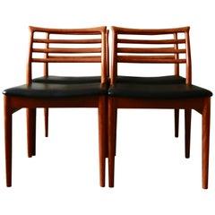 Erling Torvits Teak Dining Chairs for Sorø Stolefabrik, 1960s