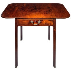 18th Century Georgian Chippendale Drop-Leaf Writing Table