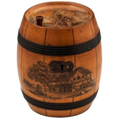 Barrel Tea Caddy, 19th Century