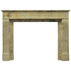 Antique Escallete Marble Louis XVI Fireplace Mantel