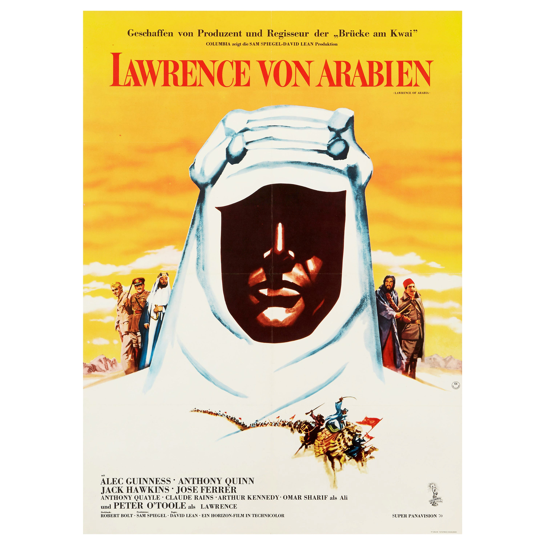 'Lawrence of Arabia' Original Vintage Movie Poster, German, 1963