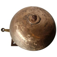 Early 20th Century French Bronze Wall Bell