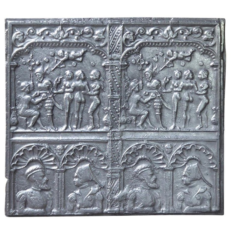 Exceptional 'Judgement of Paris' Fireback, 16th Century For Sale