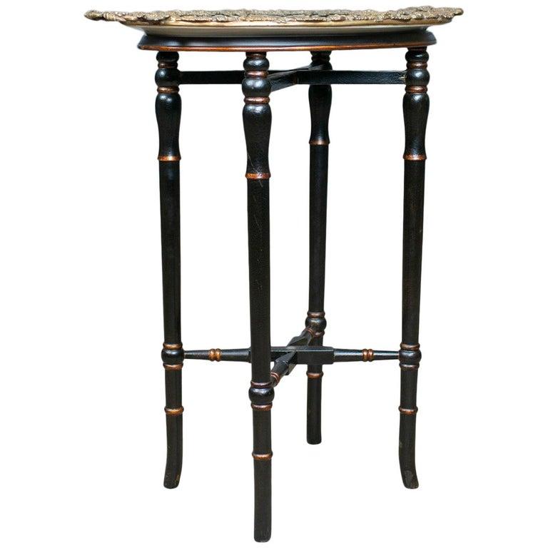 Vintage Butlers Tray Table, Italian Mannerist Revival, Enamel, 20th Century