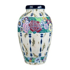 Large Baluster Vase, Czechoslovakian Amphora Pottery, Mid-20th Century