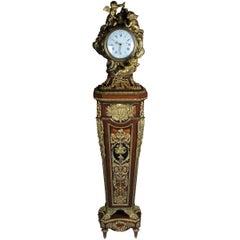 "Napoleon III Pedestal Clock ""Parquet Regulator"" after Jean-Henri Riesener, 1734"