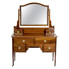 Antique English Vanity Veneered with Mahogany, circa 1890