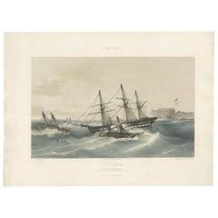 Antique Ship Print 'L'Algésiras' by Durand-Brager, circa 1850