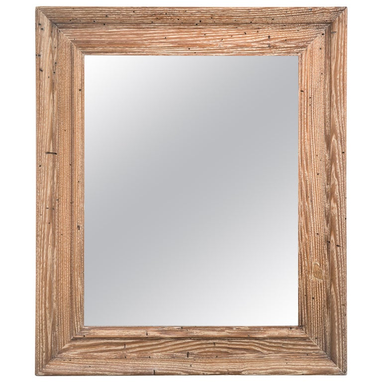 Limed Oak Framed Mirror For Sale at 1stdibs