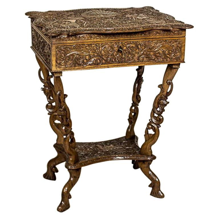 Ornate Sewing Table, circa 1900-1910