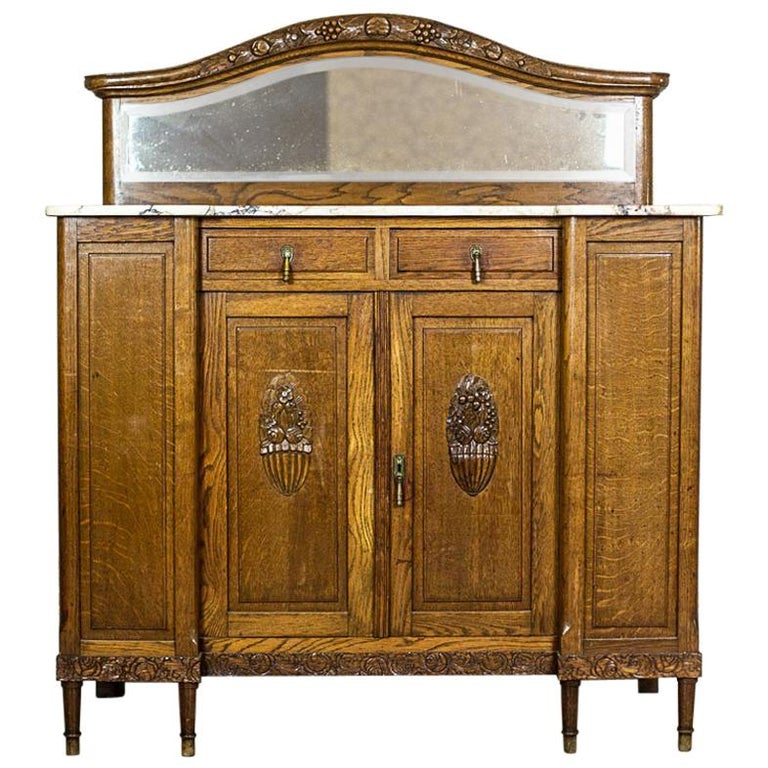 Art Nouveau Oak Sideboard, circa 1910-1920 For Sale
