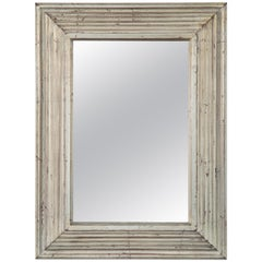 Art Deco Swedish Silvered Wood Framed Mirror