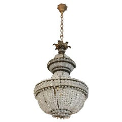 19th Century Italian Four-Light Crystal Chandelier