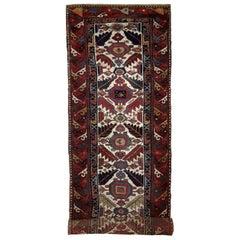 Handmade Antique Collectible Northwest Persian Runner, 1840s