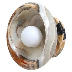 Piedra Collection, Hand Carved Terra Onyx Sconce