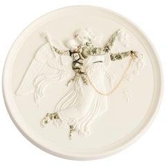 """Untitled #6"", from Los Infortunios De La Virtud, Antique French Medallion"