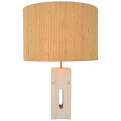 Albert Tormos Limestone Table Lamp, circa 1970, France