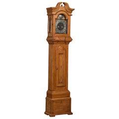 Antique Danish Pine Grandfather Clock