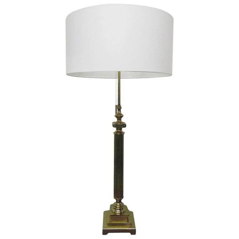 Classical Brass Column Lamp