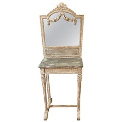 Pretty French Vanity or Console with Mirror