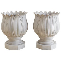 Pair of Neoclassical Tulip Form Planters or Jardinières