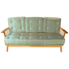 Modernist Designer Vintage Sofa with Foldable Arms, 1960s