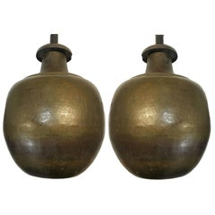 Hammered Brass Table Lamps