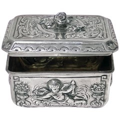 Antique Silver Box, Germany, circa 1900